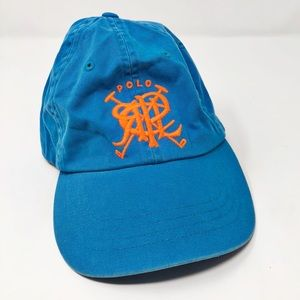 Polo Ralph Lauren Golf Clubs Turquoise Orange Hat